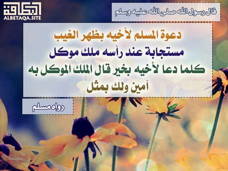 دعوة المسلم لأخيه بظهر الغيب مستجابة